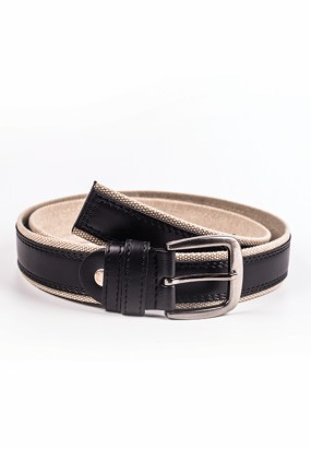Mixed material belt- Black