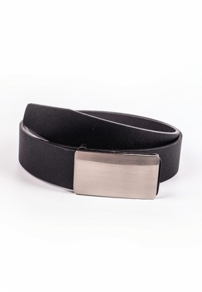 Faux Leather Belt- Black