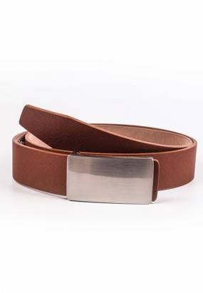 Faux leather belt- Khakis