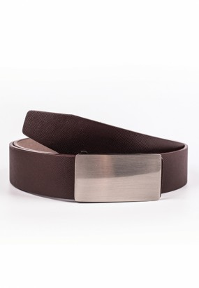 Faux leather belt- Brown