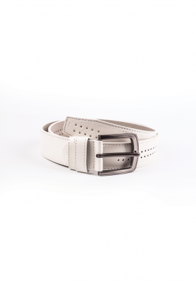 Faux leather Belt- White