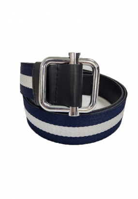 FLEECE RIBBON BELT- (WHITE)