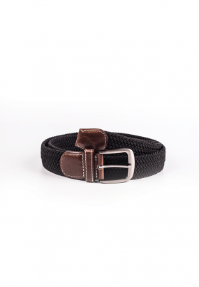 Woven Walberg Casual Belt-Black