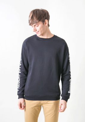 SLEEVED DETAILS JUMPER- BLACK