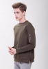 Crew Neck Jumper- Army Green