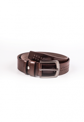 Faux Leather Belt - Khakis