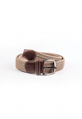 Woven Walberg Casual Belt- Light Khakis