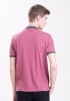 Printed Polo Shirt-Maroon