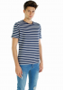 Stripe Tee- Navy