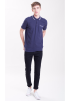 CASUAL POLO WITH POCKET DETAILS-NAVY