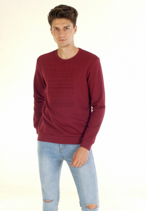 Geometric Pop Up Sweatshirt- Maroon
