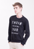 Night thinking, Day dreaming Jumper-Black