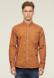 Contrast Stich Long Sleeve Shirt - Brown