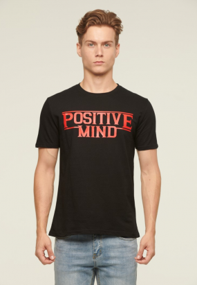Positive Mind Tee- Black