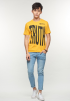 TRUTH Graphic Printed Tee- Yellow