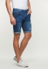 Classic Ripped Short Jeans- Blue