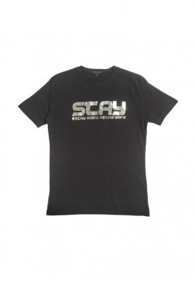 DRUM STAY HOME STAY SAFE TEE- BLACK