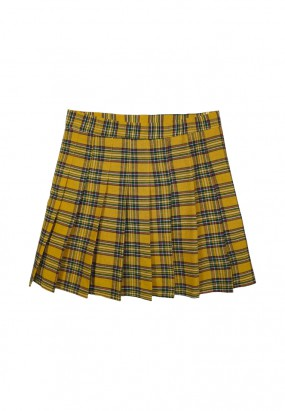 Mirra Check Skirt - Yellow