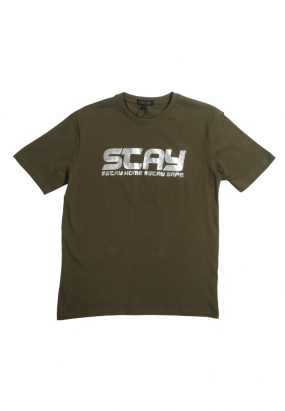 DRUM STAY HOME STAY SAFE TEE- ARMY GREEN