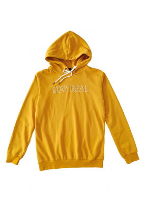 STAY REAL Hoodie- Yellow