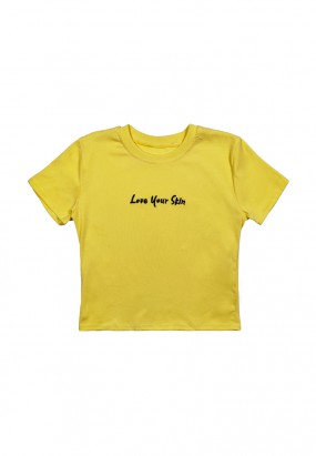 Love Your Skin Crop Top- Yellow