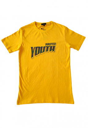 Wasted Youth Reflective Tee-Yellow