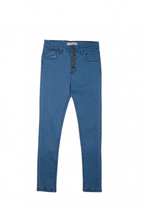 BUTTONS DESIGN JEANS- LIGHT BLUE