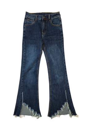 Denim Ripped Flare jeans