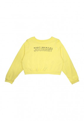 Sentimental Journey Crop Jumper- Yellow