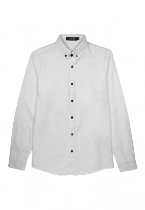 Smart Casual Long Sleeve Shirt - White