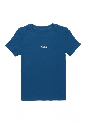 NASA Embroideries Slim Fit Tee - NAVY