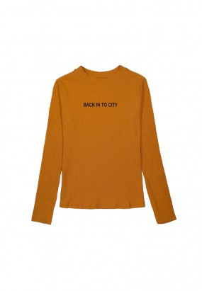 Back Into City Long Sleeve Knitwear - BROWN