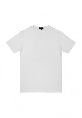 DRUM Details Stiched Colour Tee- White