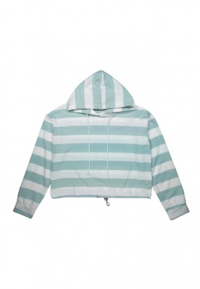 Colour Stripe Hoodie- GREEN