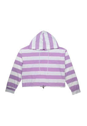 Colour Stripe Hoodie- PURPLE