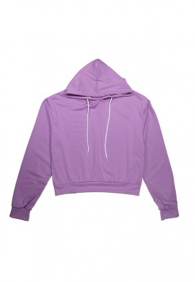 Colour Comfy Hoodie- PURPLE