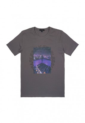 DRUM Fearlessly Graphic Tee- Grey