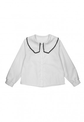 Lela Long Sleeve Shirt- WHITE
