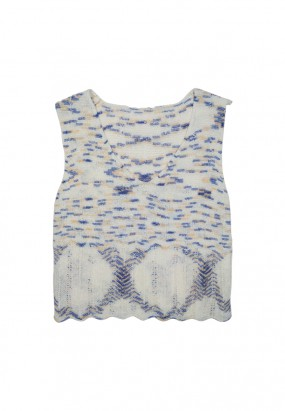Boha Knit Top- White