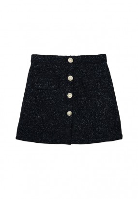 Cotton mini skirt- Black