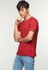 Casual Short Sleeve Tee- Red