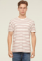 STRIPED TEE- White