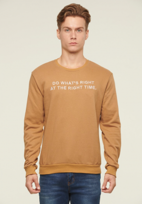 "Do what""s right at the right time Jumper- Khakis"