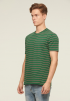 STRIPED TEE- GREEN